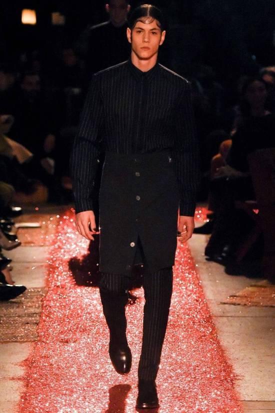 Givenchy Grey Wool Knit Runway Skirt Size US 36 / EU 52 - 6