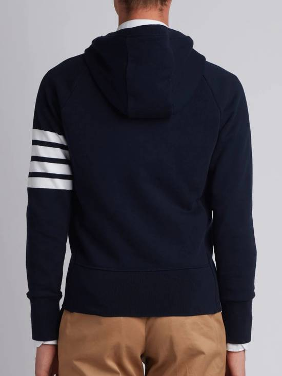 Thom Browne Navy Classic Hoodie w/Engineered 4-Bar Arm Stripe Size US S / EU 44-46 / 1 - 11