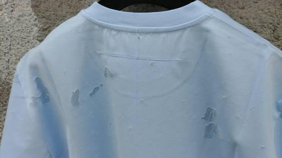 Givenchy Givenchy Baby Blue Destroyed Distressed Logo Shark Oversized T-shirt size M (XL) Size US XL / EU 56 / 4 - 8
