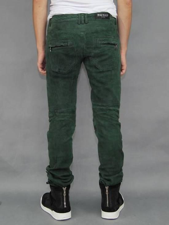 Balmain Balmain Green Lamb Suede Leather Biker Pants Size: 28-XS Size US 28 / EU 44 - 6