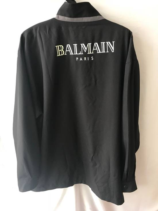 Balmain Vintage Balmain Silk Light Jacket color navy Big logo Authentic Size US XL / EU 56 / 4