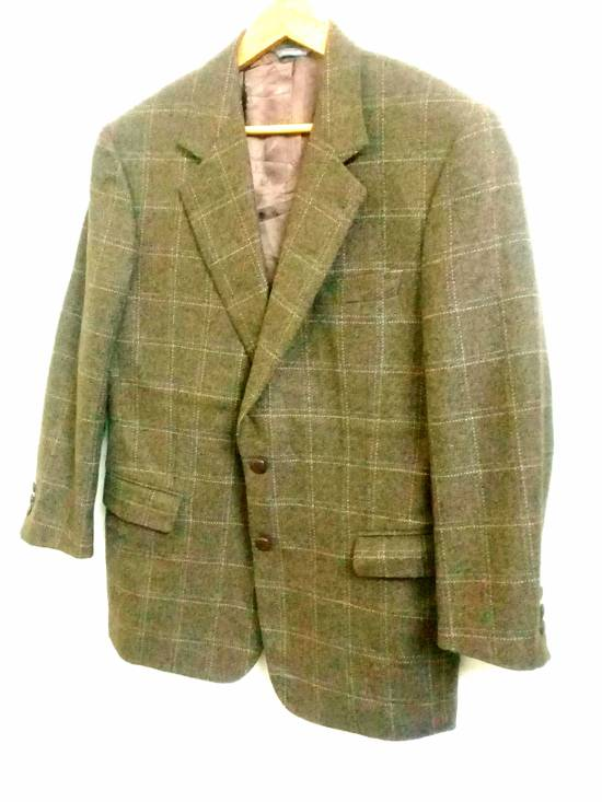 Givenchy Givenchy Gentleman Selection Couture Wool Cashmere Brown Plaid Blazer Size 46R - 2