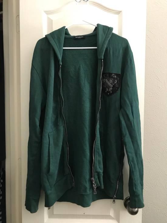 Balmain Decarnin Era SS2011 Badge Hoodie. Size US M / EU 48-50 / 2