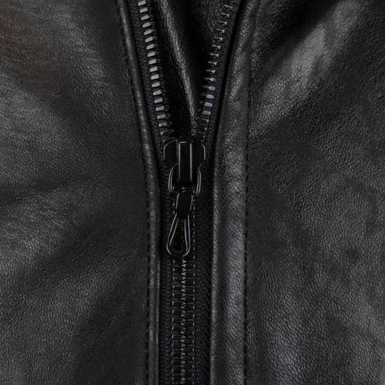 Julius 7 Men's Black Lamb Skin Leather Zip-Up Jacket Size 2/S Size US S / EU 44-46 / 1 - 7