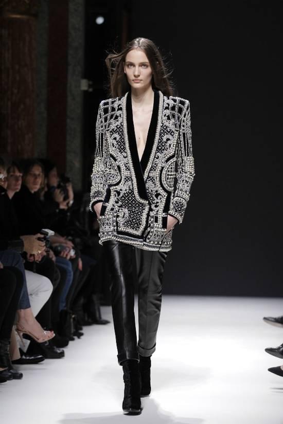 Balmain Balmain Fall 2012 Swarovski Crystal & Pearl Fabergé Tuxedo Size US XXL / EU 58 / 5 - 16
