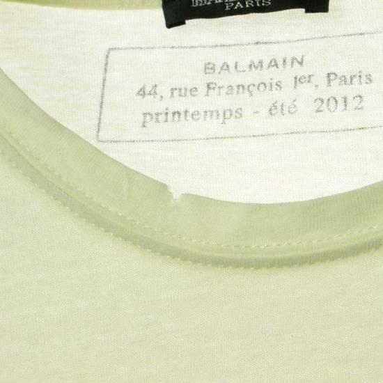Balmain Pale Yellow Classic Distressed T-Shirt Size M Size US M / EU 48-50 / 2 - 2