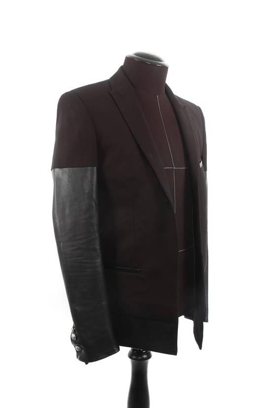 Balmain Balmain Black Leather Sleeve Blazer Size US S / EU 44-46 / 1 - 1