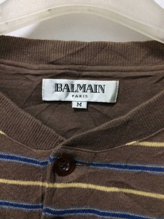 Balmain Stripe Pocket L/Sleeve Shirt BALMAIN Large Japan. Size US L / EU 52-54 / 3 - 1