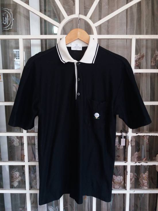 Givenchy Vintage Givenchy paris polo tee single pocket embroidery/black with white collar/made in italy Size US M / EU 48-50 / 2