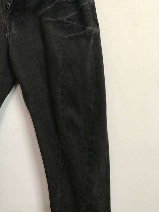 Julius Japanese Designer JULIUS7 Made in Japan Distressed Curved in Legs Denim Pant Size US 33 - 7