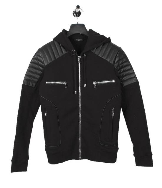 Balmain Original Balmain Leather App Black Men Hooded Sweatshirt Top Jumper in size M Size US M / EU 48-50 / 2