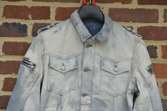 Balmain Light Blue Distressed Denim Jacket Size US S / EU 44-46 / 1 - 3