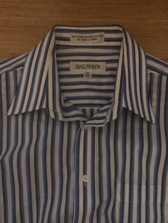 Balmain Blue Double Stripe Balmain Dress Shirt Size US M / EU 48-50 / 2 - 2