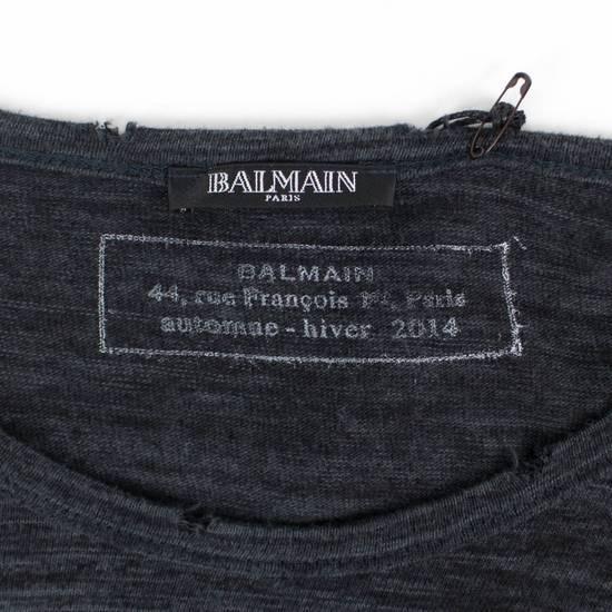 Balmain Gray Cotton Long Sleeve Crewneck T-Shirt Size XL Size US XL / EU 56 / 4 - 3