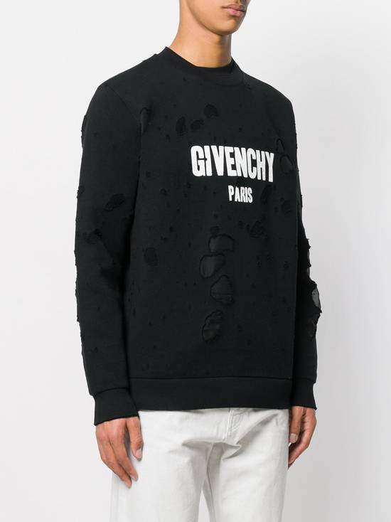 Givenchy $1300 Givenchy Black Destroyed Distressed Logo Rottweiler Shark Sweater size S Size US S / EU 44-46 / 1 - 2
