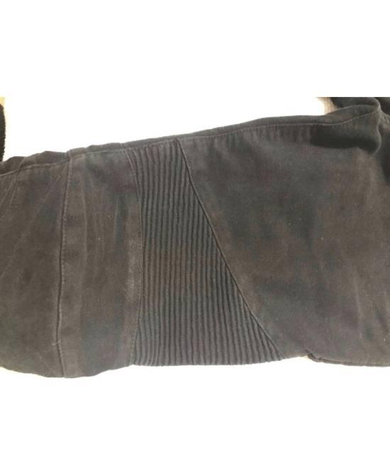 Balmain Black Cotton Biker Jeans Size US 30 / EU 46 - 3