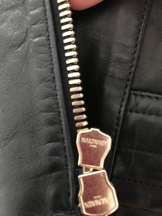 Balmain Balmain Black Leather Jacket Size US M / EU 48-50 / 2 - 10