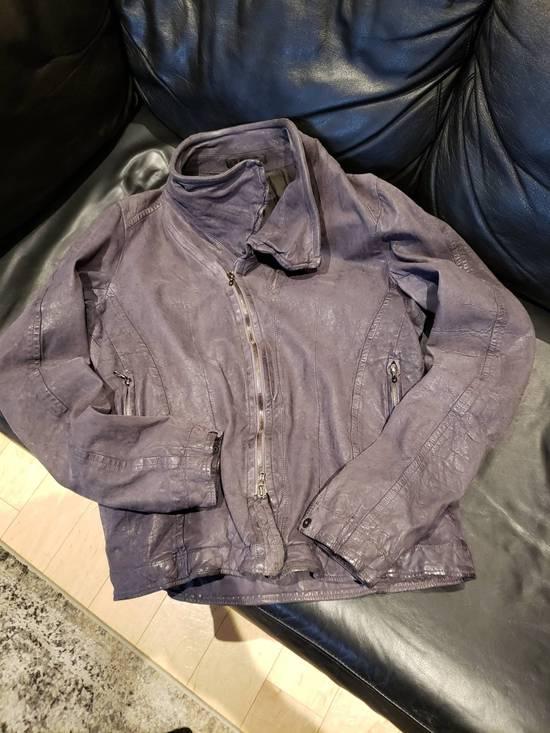 Julius AW12 Moldable Jut Neck Leather Jacket NEW Size US L / EU 52-54 / 3 - 9