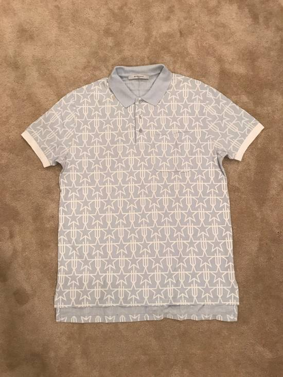 Givenchy Oversized Light Blue Givenchy Star Print Polo Size US XS / EU 42 / 0