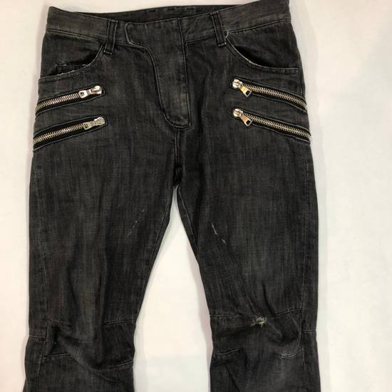 Balmain Balmain Decarnin Black Double Zip Biker Size US 30 / EU 46 - 4