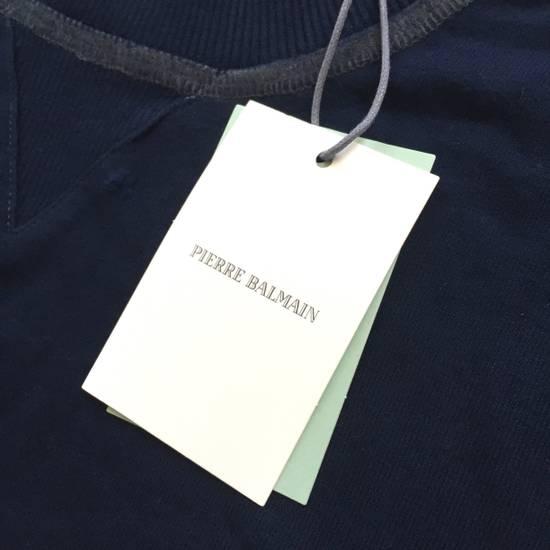 Balmain Distressed Navy French Terry Sweatshirt NWT Size US XL / EU 56 / 4 - 4