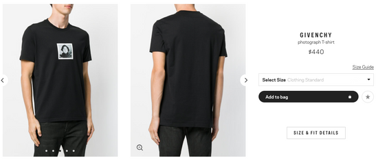 Givenchy photograph T-shirt Size US S / EU 44-46 / 1 - 4