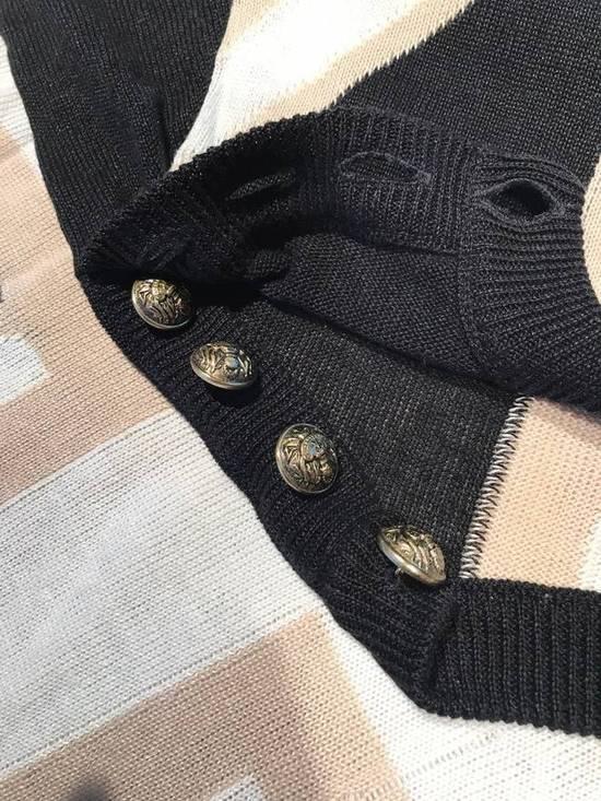 Balmain Union Jack Sweater beige/blk Size US XL / EU 56 / 4 - 7