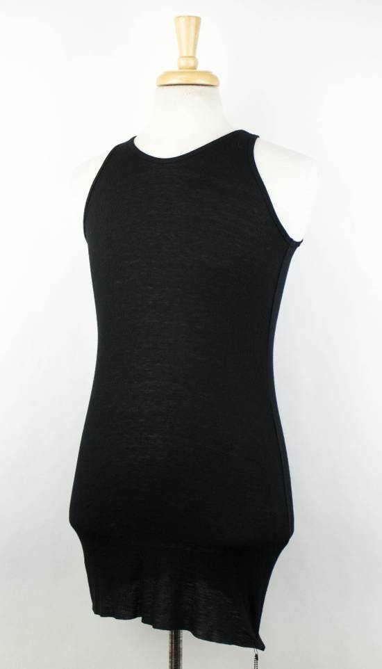 Julius 7 Black Silk Blend Long Ribbed Tank Top T-Shirt Size 4/L Size US L / EU 52-54 / 3 - 1