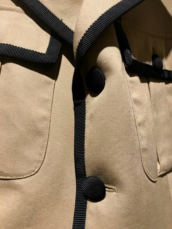 Thom Browne GROSGRAIN TRIMMED BEIGE MILITARY OFFICER JACKET Size 48R - 8