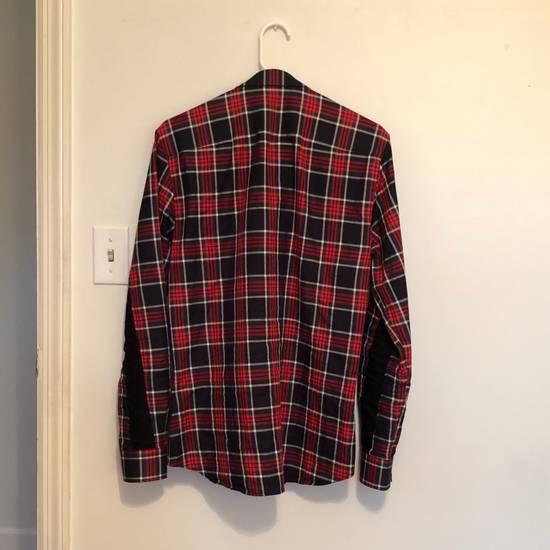 Givenchy Men's Red Cross-inset Plaid Button-down Shirt Size US XXS / EU 40 - 2