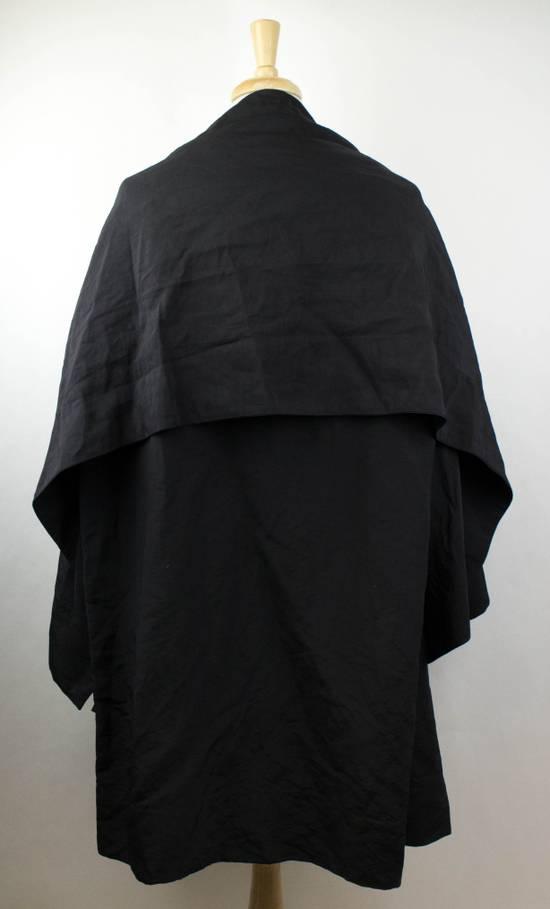 Julius Black Linen Blend 'Kimono Sleeve Long' Trench Coat 2/S Size US S / EU 44-46 / 1 - 3