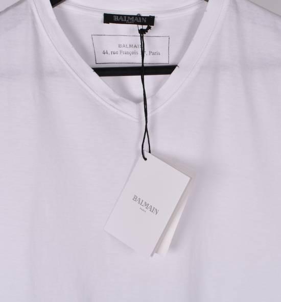 Balmain Paris Men White V Neck T-Shirt, NWT Size US M / EU 48-50 / 2 - 3