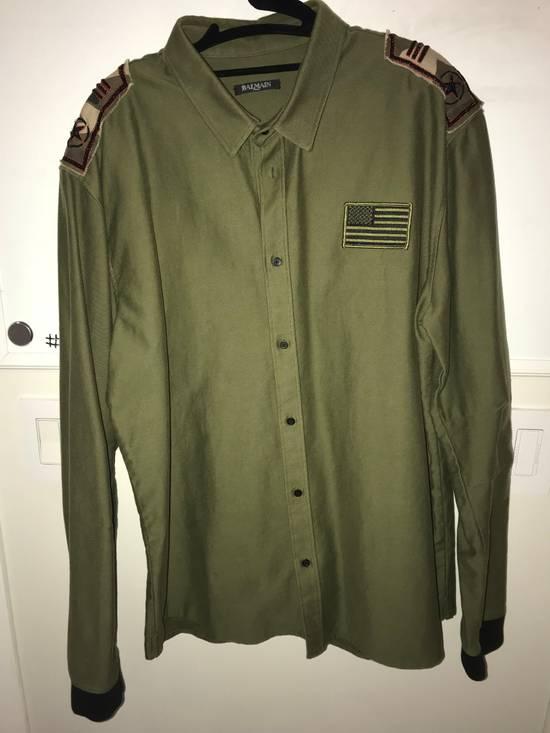 Balmain Balmain Army Green Long Sleeve T/Sweatshirt Size US S / EU 44-46 / 1