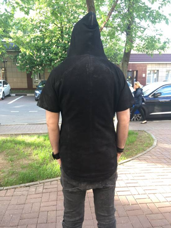 Julius Lamb Nubuck Leather Short Sleeve Jacket Size US L / EU 52-54 / 3 - 2