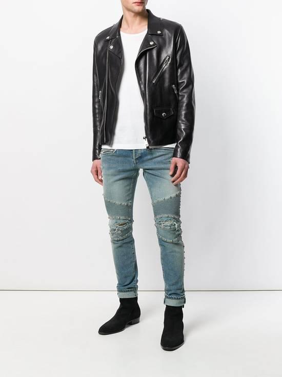 Balmain Balmain Studded Distressed Skinny Moto Jeans Size US 32 / EU 48 - 4