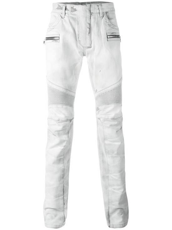 Balmain BNWT Balmain Gray Biker Jeans size 35 Size US 35 - 4