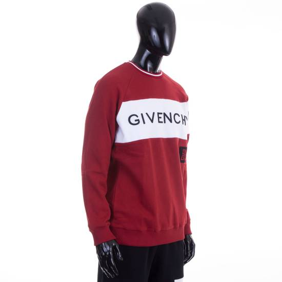 Givenchy Dark Red Givenchy Paris 4G Embroidered Sweatshirt Size US M / EU 48-50 / 2 - 4