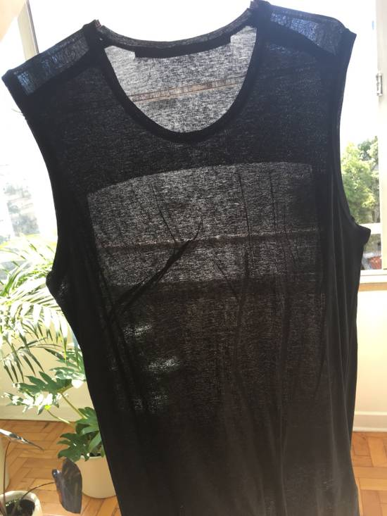 Julius Japan Made Black Elongated Tank With Semi Sheer Back Panel Worn Only Once Size US M / EU 48-50 / 2 - 9