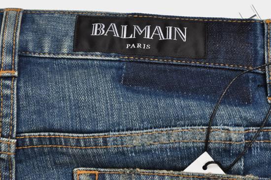 Balmain Distressed Slim Fit Skinny Blue Jeans Size US 31 - 7