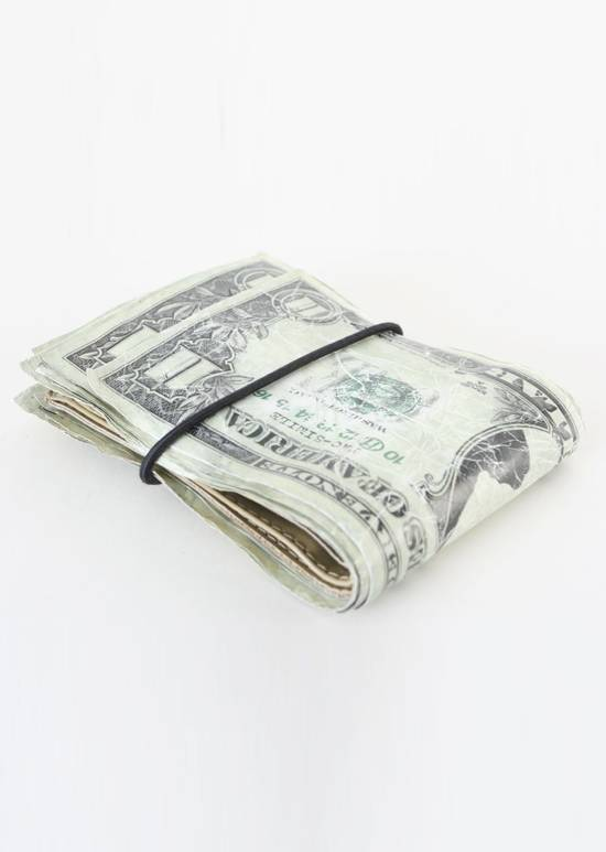 Maison Margiela rare MAISON MARTIN MARGIELA $11 dollar bill elastic band bifold leather wallet Size ONE SIZE