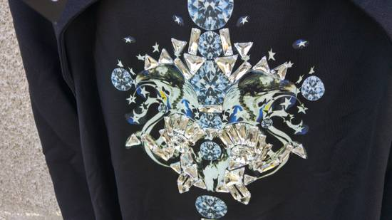Givenchy $1200 Givenchy Black Layered Embellished Crystals Stars Rottweiler Cuban Fit Sweater size XL (L) Size US XL / EU 56 / 4 - 5