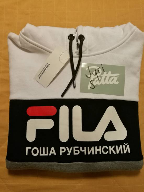 Gosha Rubchinskiy Gosha Rubchinskiy x Fila Hoodie (White/Black/Grey) Size US XL / EU 56 / 4 - 2