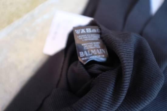 Balmain Black Ribbed Knit Roll Neck T-shirt Size US L / EU 52-54 / 3 - 9