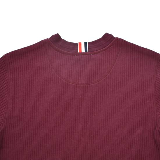 Thom Browne Wine Red Ribbed Henley Shirt NWT Size US XS / EU 42 / 0 - 2