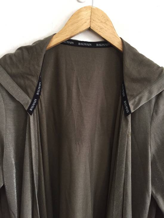 Balmain [ LAST DROP ! ] Authentic Silk Rayon Spell Out Unbuttoned Hoodie Size US M / EU 48-50 / 2 - 3