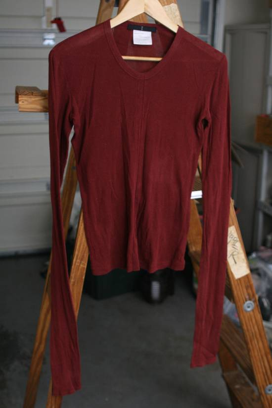 Julius FW08 Blood Red Cotton/Cashmere Rib Longsleeve Size US S / EU 44-46 / 1