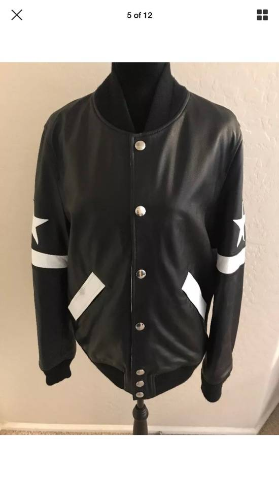 Givenchy Givenchy Black Leather Star And Stripe Bomber Jacket Size US M / EU 48-50 / 2 - 5