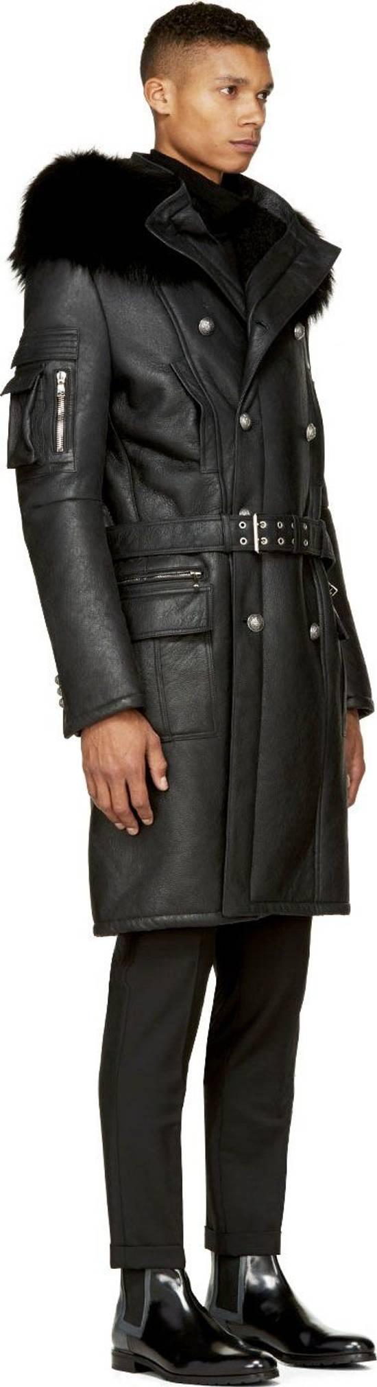 Balmain Balmain Leather Shearling Fur Parka Black Size Small 46-48 Coat Military Size US S / EU 44-46 / 1 - 2