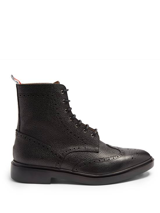 Thom Browne Wingtip Grained-Leather Lace Up Ankle Boots msrp $1100 Size US 10 / EU 43 - 2