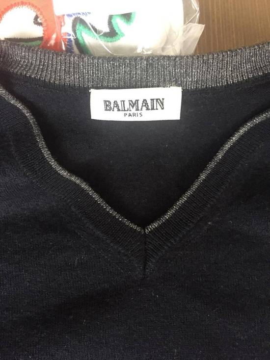 Balmain Balmain Navy Sweater With B Logo Size US XS / EU 42 / 0 - 1